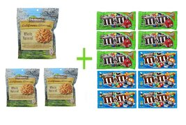Mariani Whole Natural California Almonds 16 OZ (Pack of 3) + 10 pack M&M... - $148.35