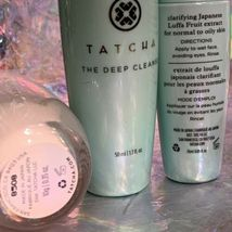 Tatcha Bundle Deep Deep Cleanse Bundle Water Cream 10mL Rice Polish 10g Kit NWOB image 3