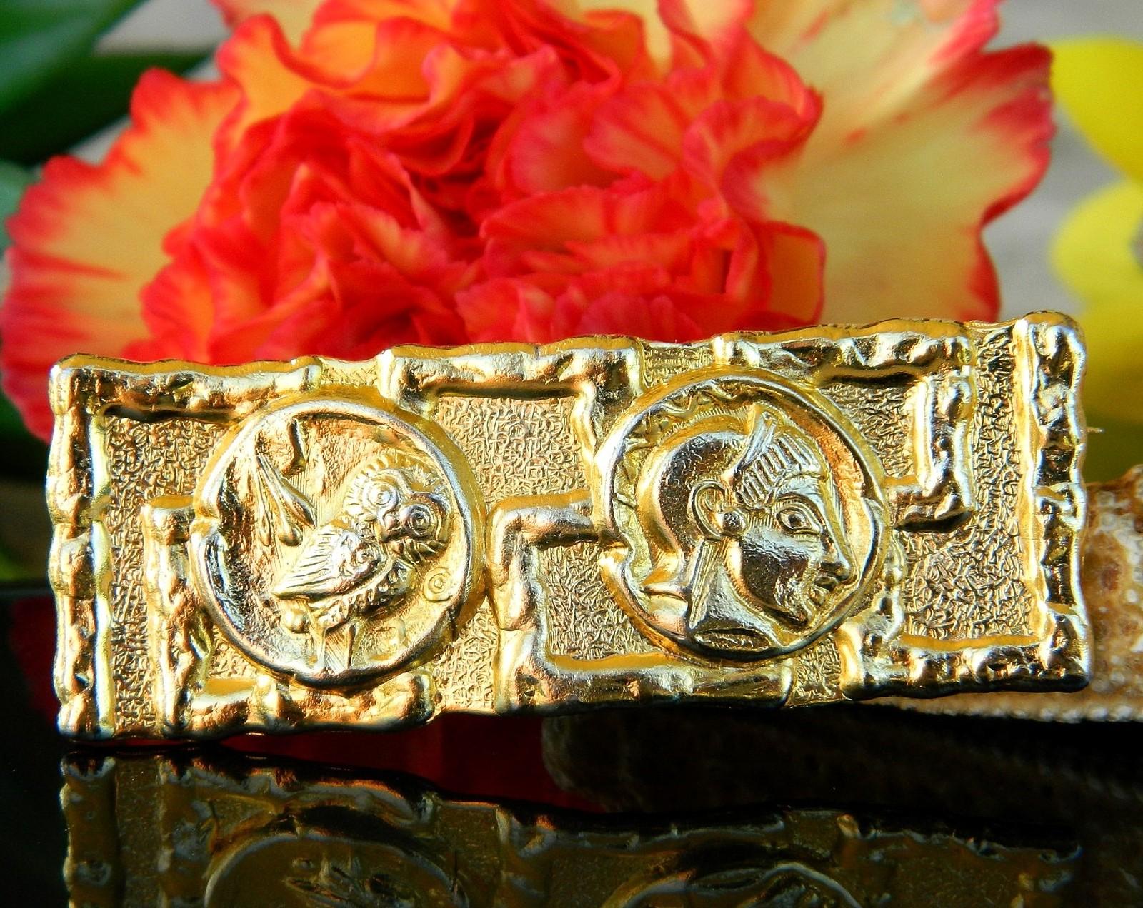 Vintage Owl of Athena Minerva Goddess Wisdom Greek Roman Brooch Pin
