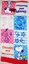 Snoopy & Woodstock Cartoon 34 X 80 Cm Daily Easy Use Shower Use Cotton Towel - $10.99