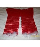 Handmade, Crochet Valentine Scarf, Fashion Scarf, Accessories, Women, St... - $20.00
