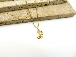 Vintage Marked 585 14k Yellow Gold Italy Sailboat Nautical Pendant Neckl... - $146.99