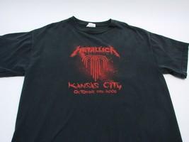 EUC Metallica Men Large Black Kansas City T-shirt Rock Tee Band October 25, 2008 - $23.80