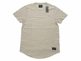 Abercrombie Fitch AF Jean Mens M Beige Curved Hem Classic Logo Crewneck ... - $17.99