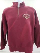 Vtg Harley Davidson Crystal River FL Mens Maroon 1/4 Zip Sweatshirt  Size L - $74.76