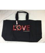 Retired Victorias Secret Tote XL Sequined VS Weekender Bag Love Bling Fa... - $23.36