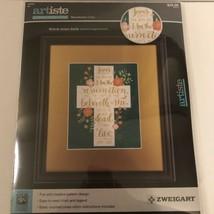 Artiste Counted Cross Stitch Kit Resurrection Cross 8x10 Finished Size Zweigart - $12.86