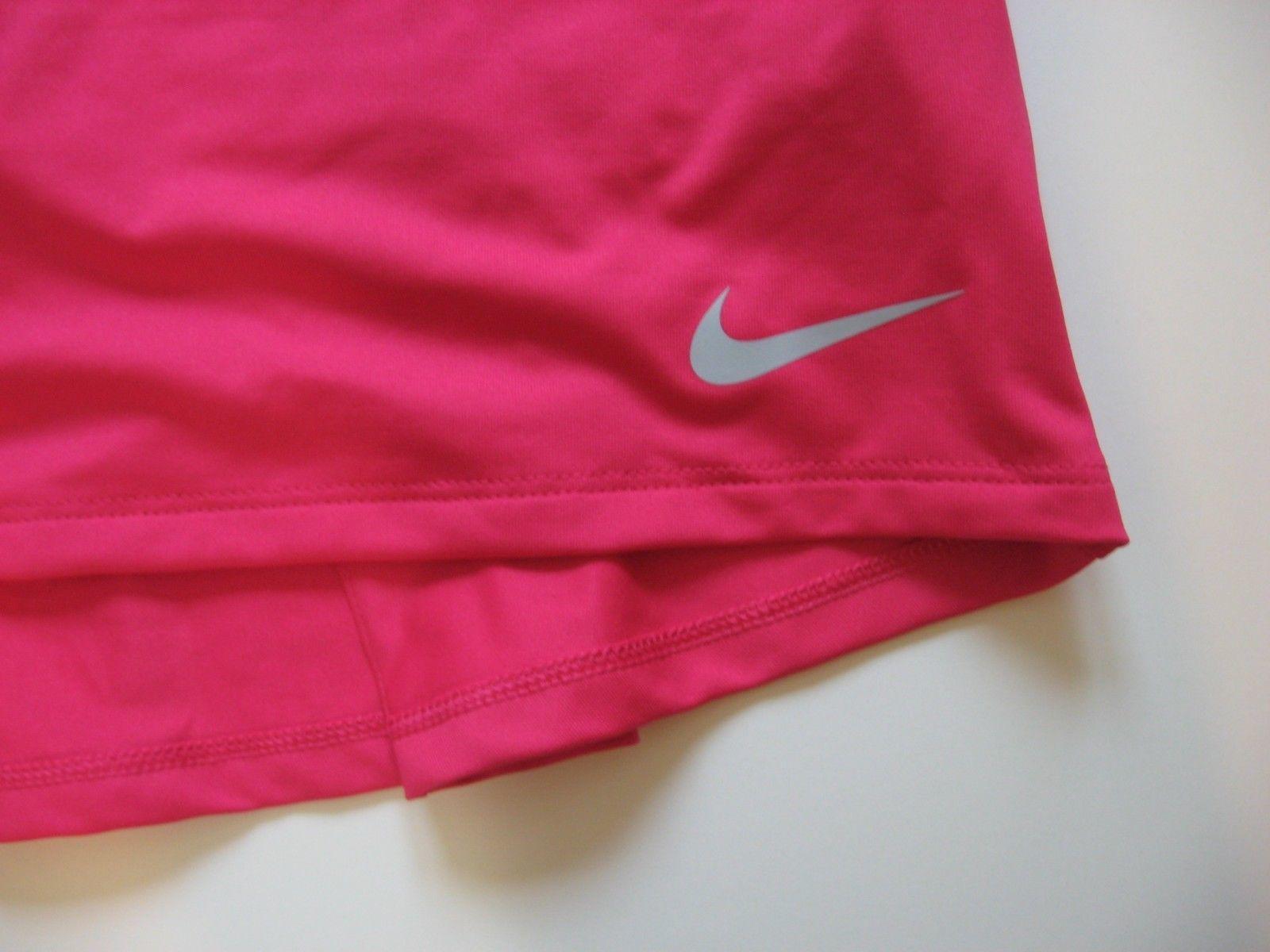 "New Nike Dry Womens Standard Fit 15"" Skirt Skort Pink 884894-666 Size S"