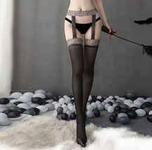 Womens sexy tights effect door bottom and suspenders/stockings cat anima... - $11.53