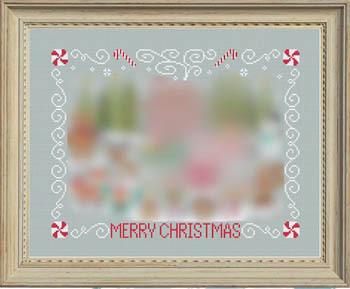 FABRIC CUT 32ct dove gray 13x18 Christmas Stitch-A-Long Tiny Modernist