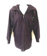 London Fog Heavy Winter Coat Jacket Purple 10 - $24.52