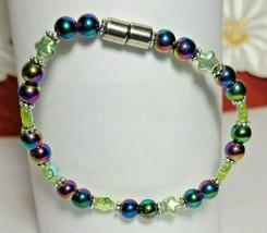 Bracelet Magnetic Hematite Clasp Single Strand 7 inch - Single Strand  (MAG-011) image 2