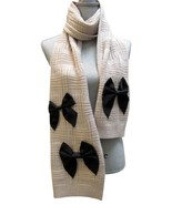 Kate Spade New York Plaid Wool Muffler with Grosgrain Bows Scarf Pumice - $98.99