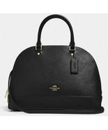 New Coach 27590 Sierra Medium size Satchel Crossgrain Leather handbag Black - $129.16