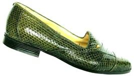 Giorgio Brutini Men's Green Snakeskin Slip On Loafer Shoe Size 9.5 M - $44.70