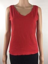 Ann Taylor LOFT Sleeveless V-Neck Tank Top Shirt Women's Red Size Medium... - $24.74