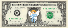 Boy TOOTH FAIRY on a REAL Dollar Bill Cash Money Collectible Novelty Ban... - $8.88