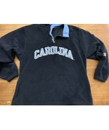 Vtg Champion Mens L North Carolina Tar Heels Fleece Jacket 1/4 Zip Up Retro - $18.99