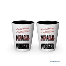 I'm Construction shot glass- Not a Miracle Worker -Construction Gifts (2) - €14,95 EUR