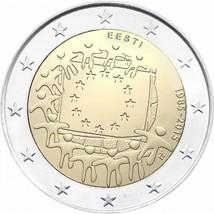 Estonia 30th Anniversary of Flag of Europe 2 euro coin 2015, Estland mün... - $4.80