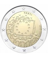 Estonia 30th Anniversary of Flag of Europe 2 euro coin 2015, Estland mün... - ₨335.15 INR