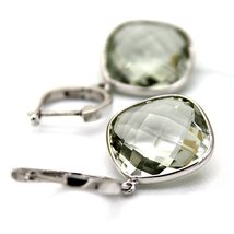 925 Solid Sterling Silver Genuine Green Amethyst Gemstone Handcrafted Women's Dr image 2