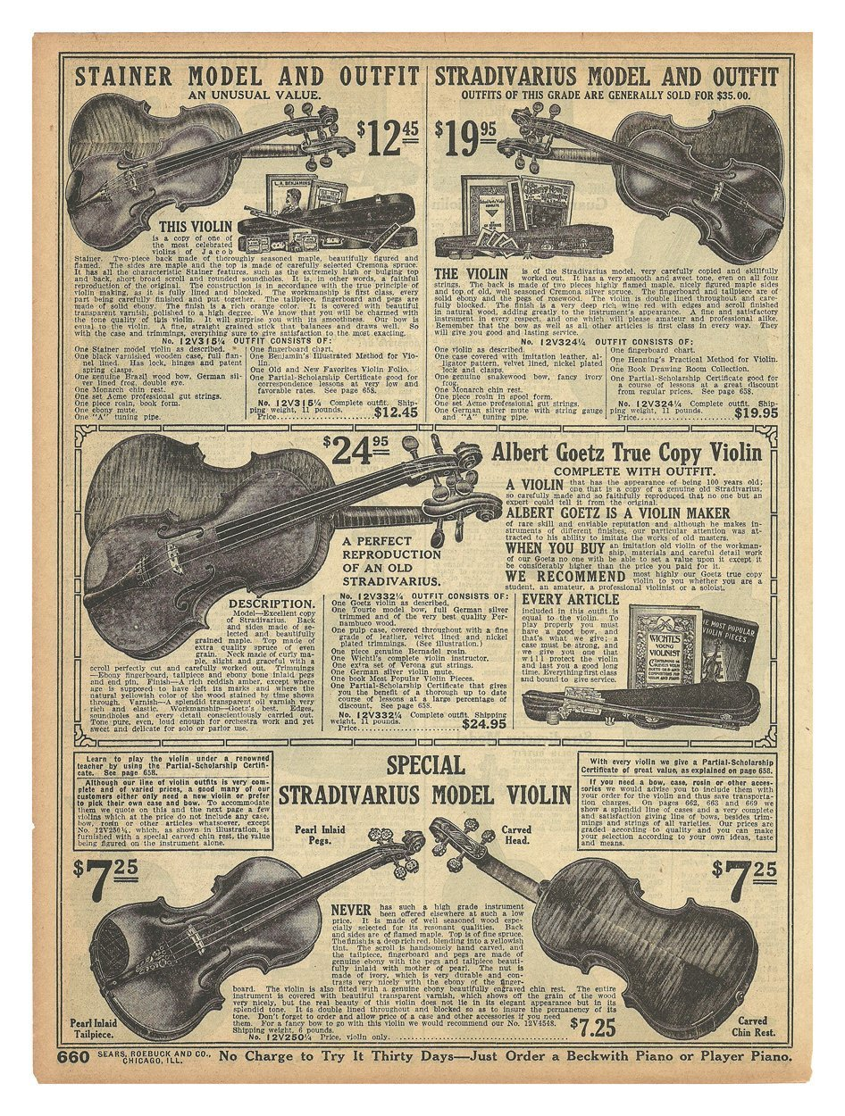 Primary image for Violin Stradivarius 1914 AD Musical Instruments Models 5 Stainer Goetz Original
