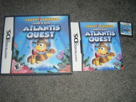 Crazy Chicken: Atlantis Quest (Nintendo DS) Lite Dsi xl 2ds 3ds xl COMPLETE - $7.41