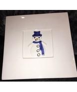Crate Barrel Ceranica Stefani Snowman Trivet Italy Wall Decor Christmas ... - $14.84