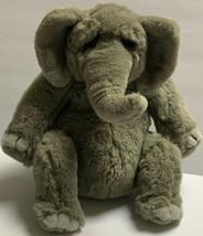 "12"" APPLAUSE DAKIN LOU RANKIN GREY HOOVER THE ELEPHANT STUFFED ANIMAL PL... - $24.19"