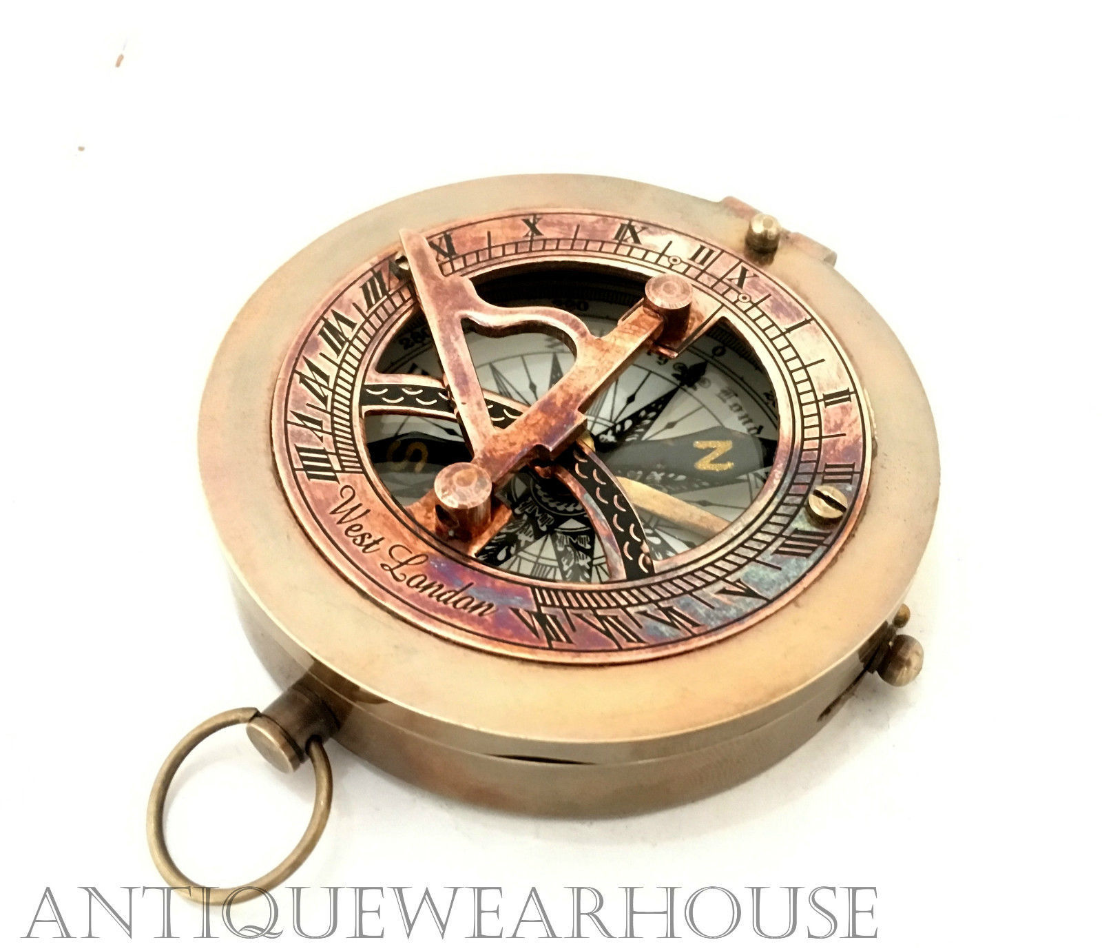 Antiques Reliable Vintage Collectible Nautical Navigation Brass Camping Maritime Pocket Compass Maritime