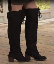 Lucky Brand Riddick OvertheKnee Boot, Black 6M - $108.89
