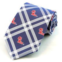 Mississippi Ole Miss Men's Necktie University College Rhodes Blue Neck Tie - $31.68