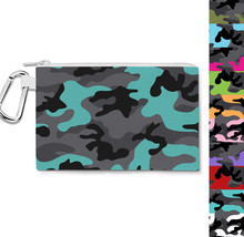 Dark Camouflage Canvas Zip Pouch - $15.99+