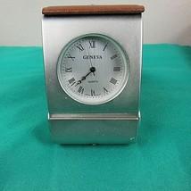 Geneva Travel Clock Self Stand vintage - $28.66
