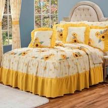 Girasoles Yellow Sun Flower Bedspread Set with Sheet Set by Intima Hogar - £99.01 GBP+