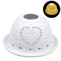 Tealight Candle Holder, Kimfly Ceramic Art Night Light,Candles Tea Light... - $24.21