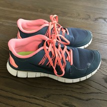 NIKE FREE 5.0 lightweight Gray/Peach Running Sneakers Size 8.5 - $12.38
