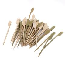 Bamboo Bbq Skewers Paddle Pick Cocktail Drink Stirrers Fruit Toothpicks ... - €1,97 EUR