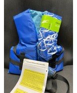 Exxel Ourdoors Polyester Childs Life Vest Blue 30-50 Lbs Adjustable - $24.99