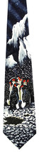 Artic Penguins Men's Neck Tie Aquatic Sea Bird Novelty Animal Blue Necktie image 1