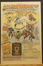 1977 Marvel SUPER SHIELDS Stand-Ups & More Promo Ad Hulk Captain America... - $9.99