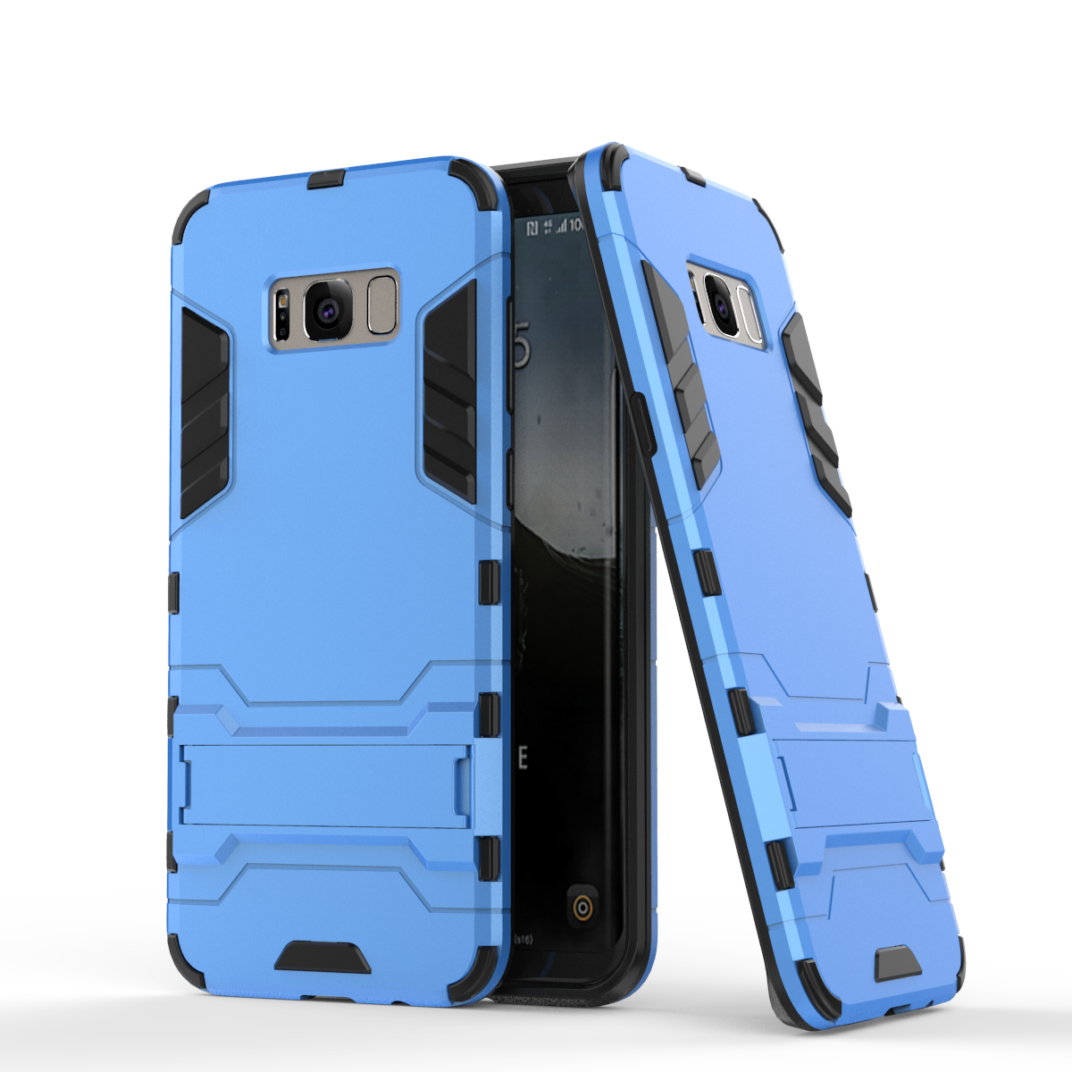 Rmor defender protective case cover with kickstand for samsung galaxy s8 blue p20170327161909511