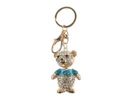 Teddy Bear Moving Parts Hollow Textured Metal Key Chain Handbag Charm  - $12.95