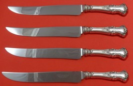 Cambridge by Gorham Sterling Silver Steak Knife Set 4pc Large Texas Sized Custom - $247.10