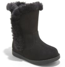 Cat & Jack Girls' Katrina Toddler Faux Fur Shearling Tall Black Winter Boots NWT
