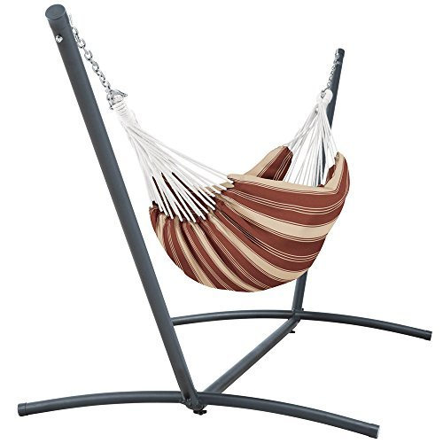 Classic Accessories Montlake FadeSafe Brazilian Hammock with Steel Stand, Henna