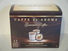 Caffe de Aroma Colombian 12 Single Serve K-Cups OK for 2.0 - $10.45