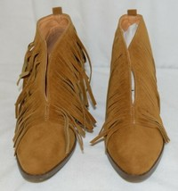 Beast Fashion Carrie 01 Camel Fringe Slip On Shoes Size Ten image 2
