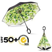 ABCCANOPY Inverted Umbrella,Double Layer Reverse Rain&Wind Teflon Repell... - $23.22